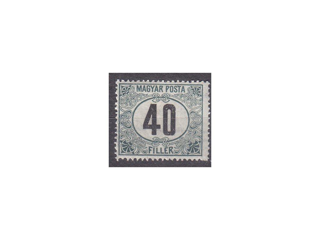 40f Doplatní - černé číslo, **, zn. platná v ČSR, ilustrační foto