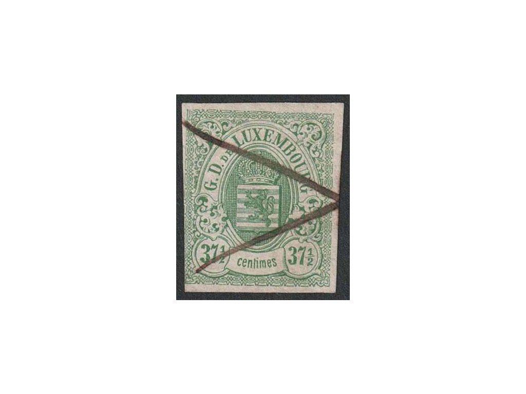 1859, 37 1/2 C Znak, MiNr.10, škrt