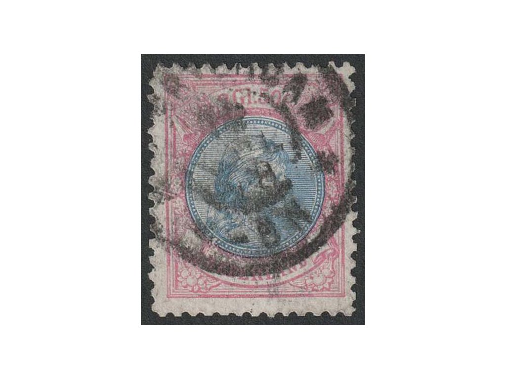 1894, 2.50G Vilemína, MiNr.45B, razítkované, stopy stáří
