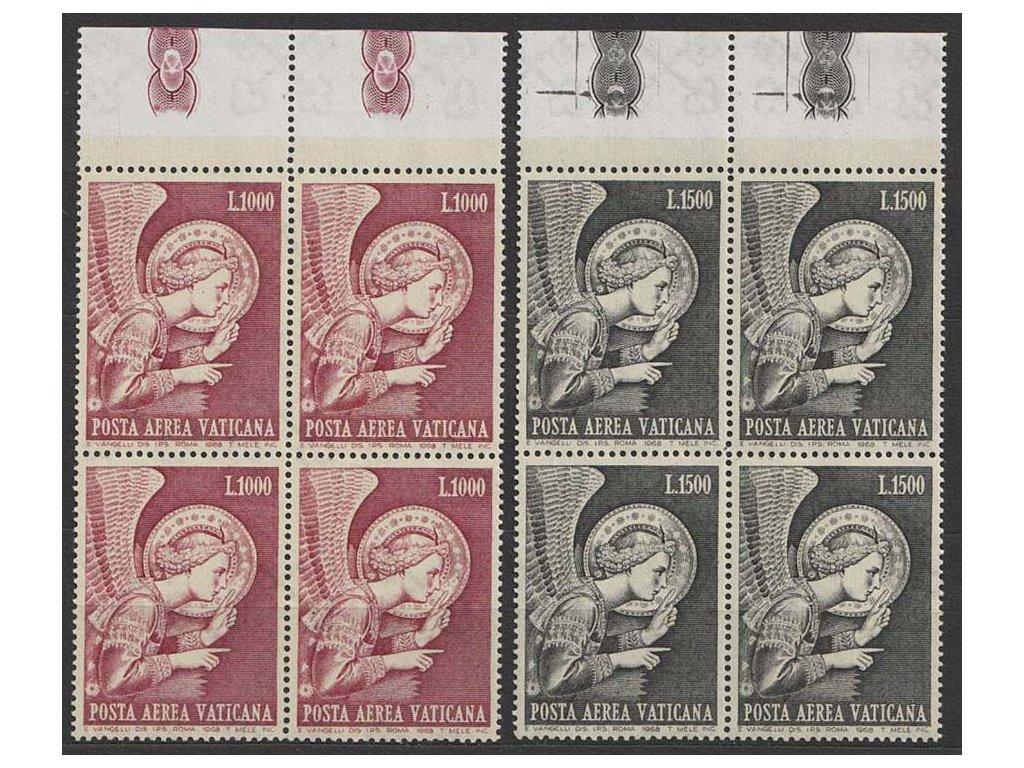 1968, 1000-1500 L letecká série, 4bloky, MiNr.536-37, **
