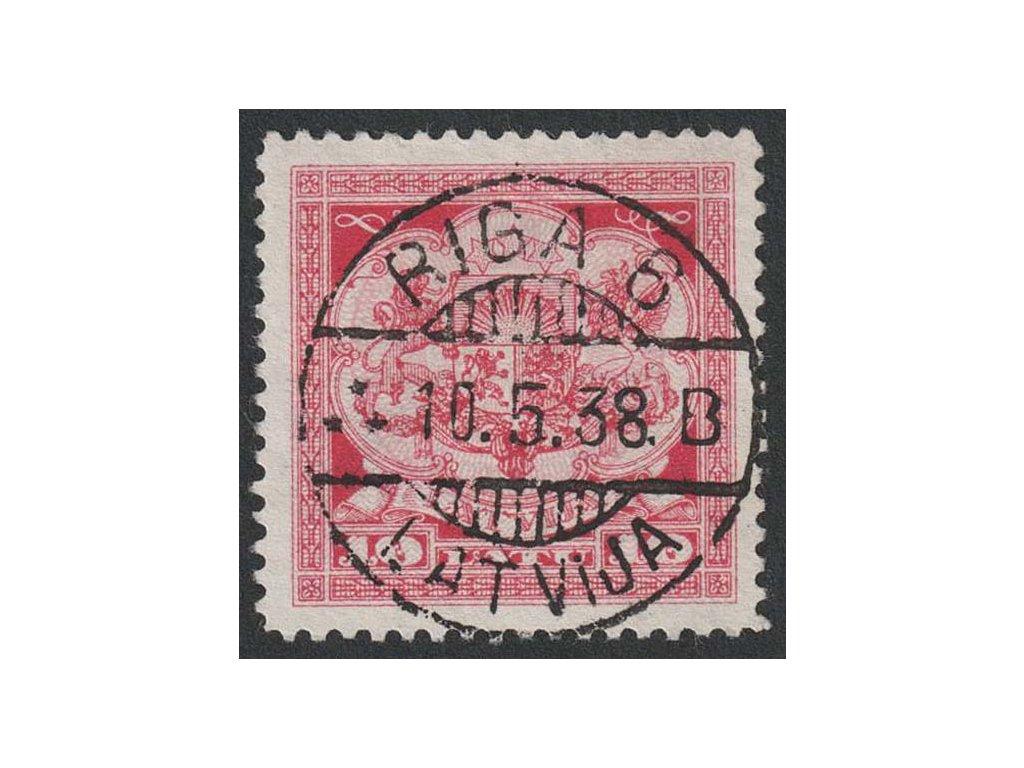Latvija, 1925, 10 L Znak, MiNr.113, razítkované