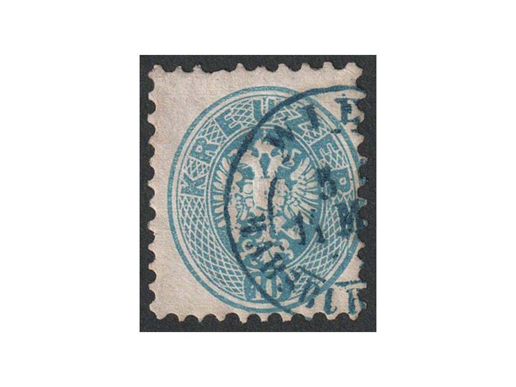 1863, 10 Kr Orlíček, modré razítko, MiNr.33