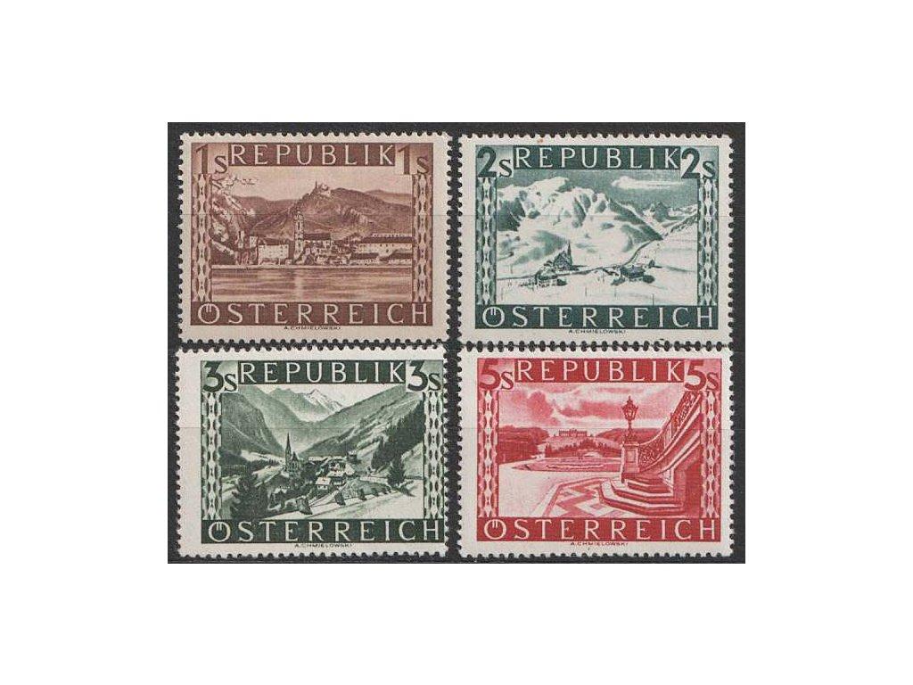 1945, 1-5 S koncové hodnoty série, MiNr.767-770, **
