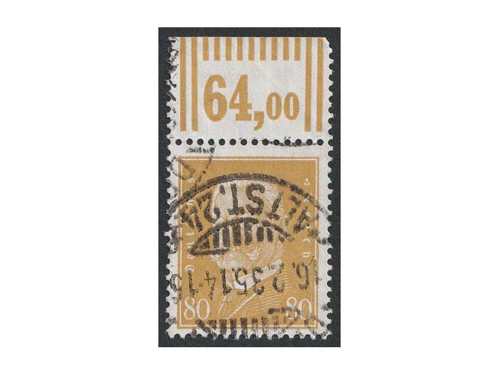 1930, 80 Pf Hindenburg, MiNr.437, razítkované