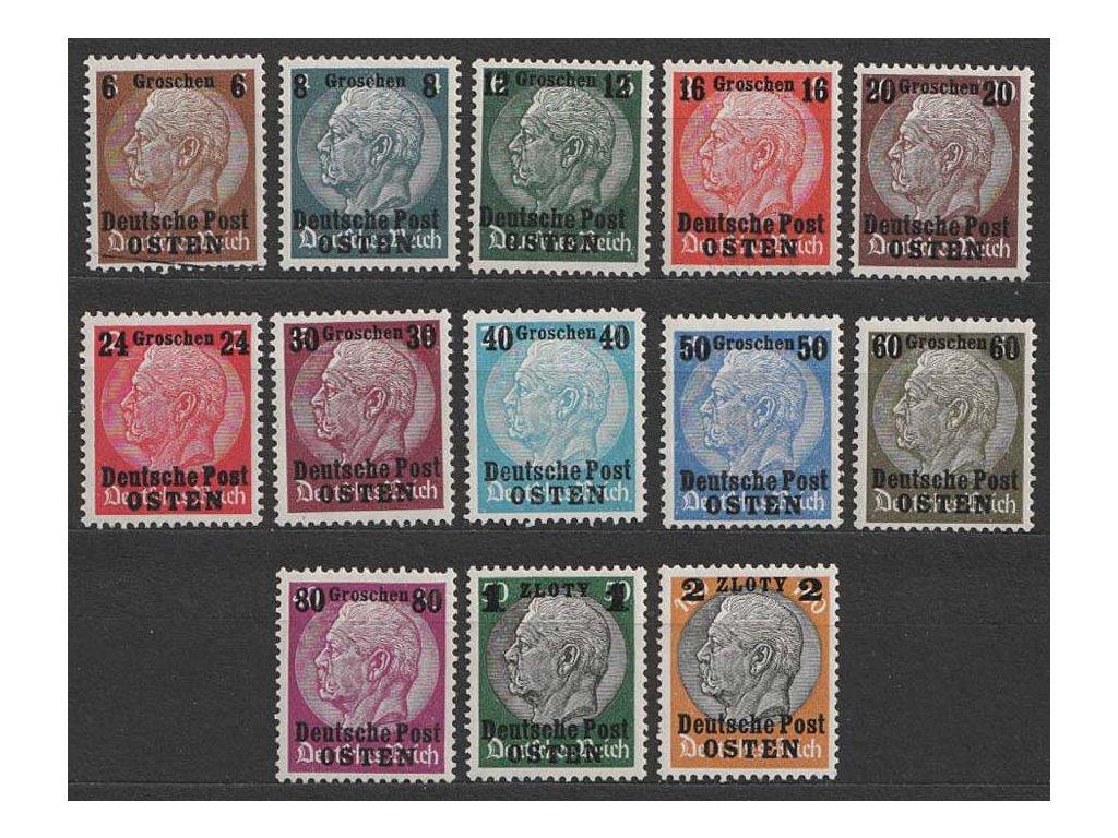 Generalgouvernement, 1939, 6Gr/3Pf-2Zl/100Pf série, **