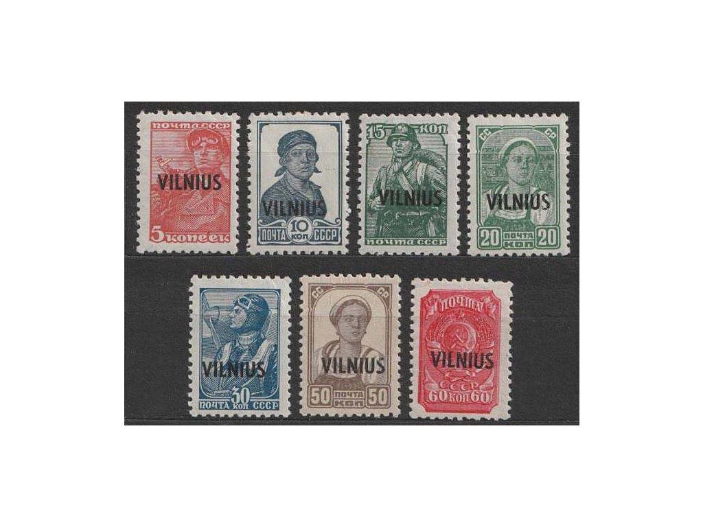 Vilnius, 1941, 5-60 K s přetiskem, MiNr.10-18, **/*