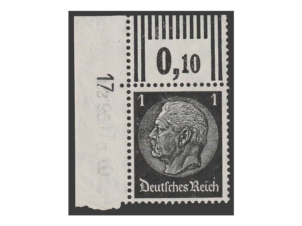1933, 1 Pf Hindenburg, MiNr.512, **