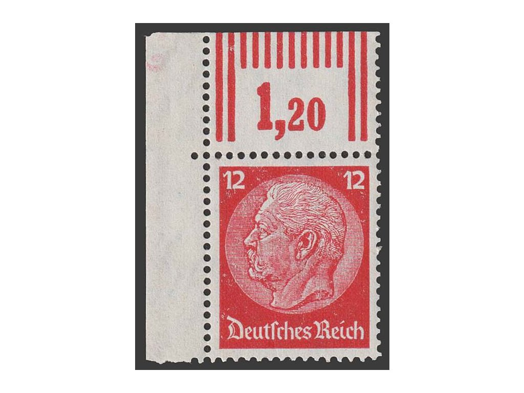 1933, 12 Pf Hindenburg, MiNr.519, **