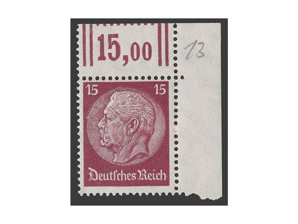 1933, 15 Pf Hindenburg, MiNr.520, **