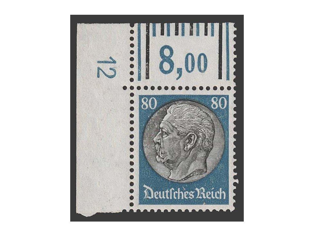 1933, 80 Pf Hindenburg, MiNr.527, **
