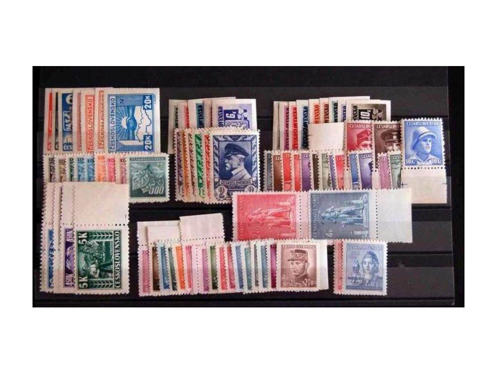 1945, kompletní ročník výplatních známek, ** , ilustrační foto