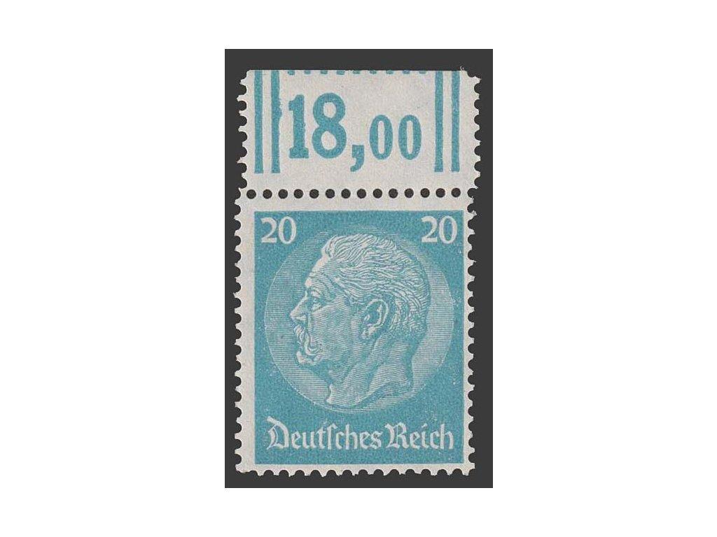 1933, 20 Pf Hindenburg, MiNr.521, **