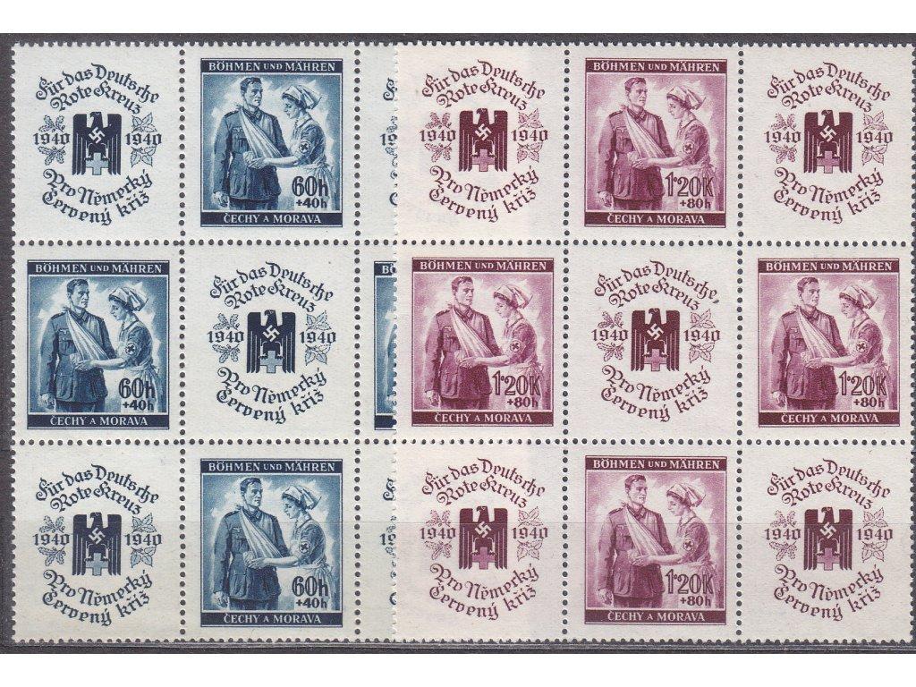 1940, 60h-1.20K ČK I, 9bloky, VK22, Nr.50-1, **