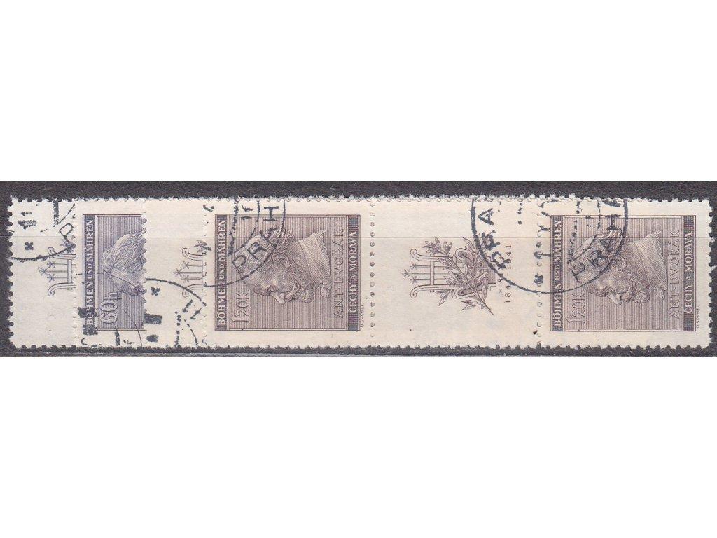 1941, 60h-1.20K Dvořák, Nr.62-3, VK-15,16, razítkované, ilustrační foto