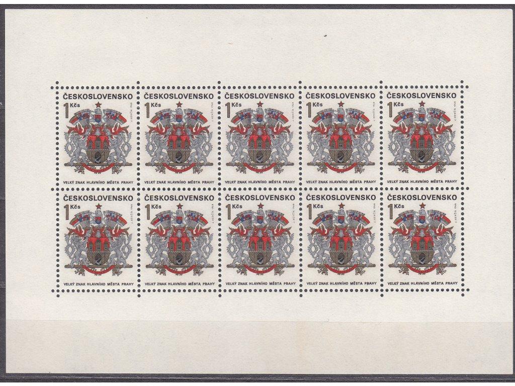 1968, 1Kčs Praha, 10blok, Nr.PL1718, **