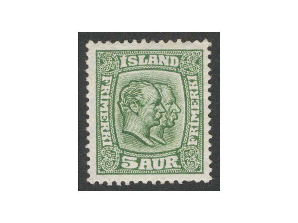1907, 5 A Christian a Frederik, MiNr.51,  * po nálepce, dv