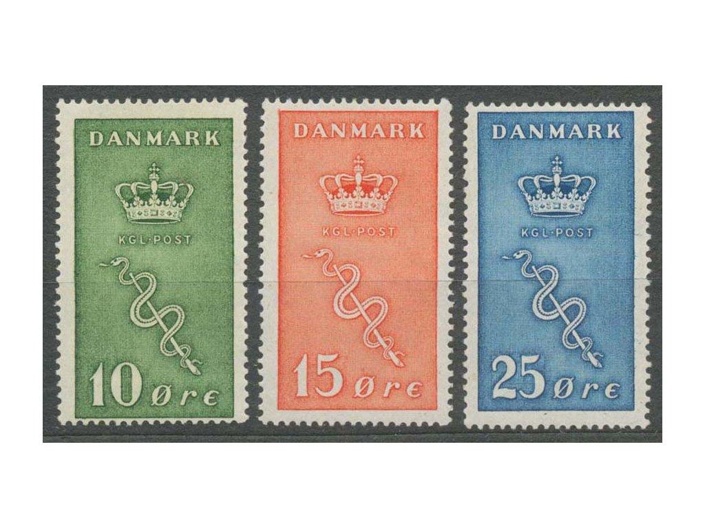 1929, 10-25 Q série Koruna, MiNr.177-79, * po nálepce