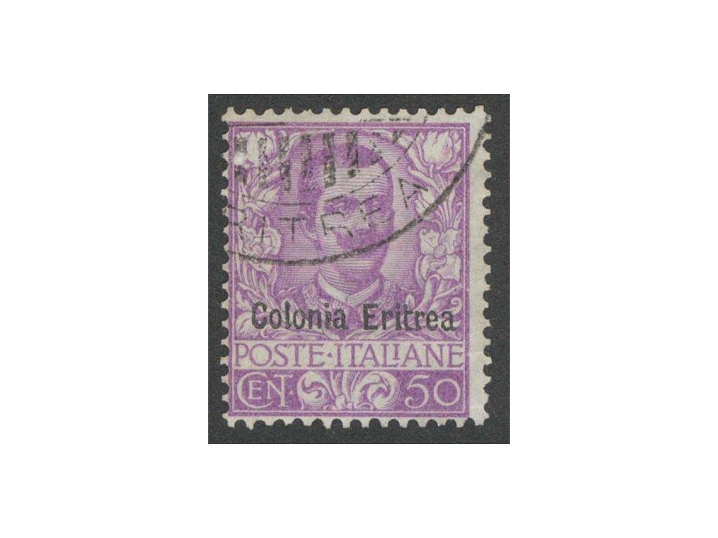 Eritrea, 1903, 50 C Emanuel, MiNr.27, razítkované