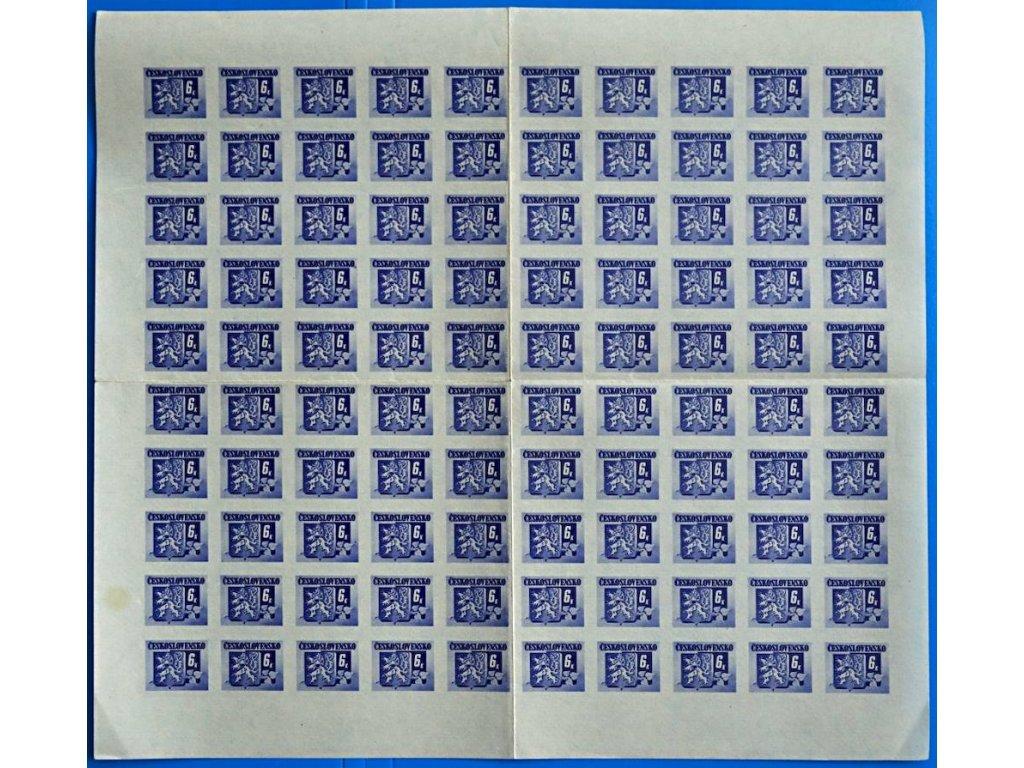 6K Brat. vydání, 100 ks arch, Nr.370, **, 2krát přeloženo mezi zn.