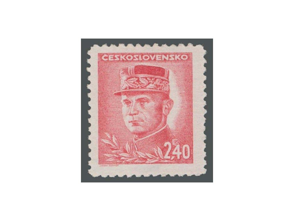 1945, 2.40Kčs Štefanik, typ II., Nr.421II, **