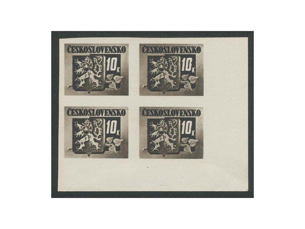 1945, 10K Bratislavké vydání, VV - vyštíplá 0 , ZP 90, **