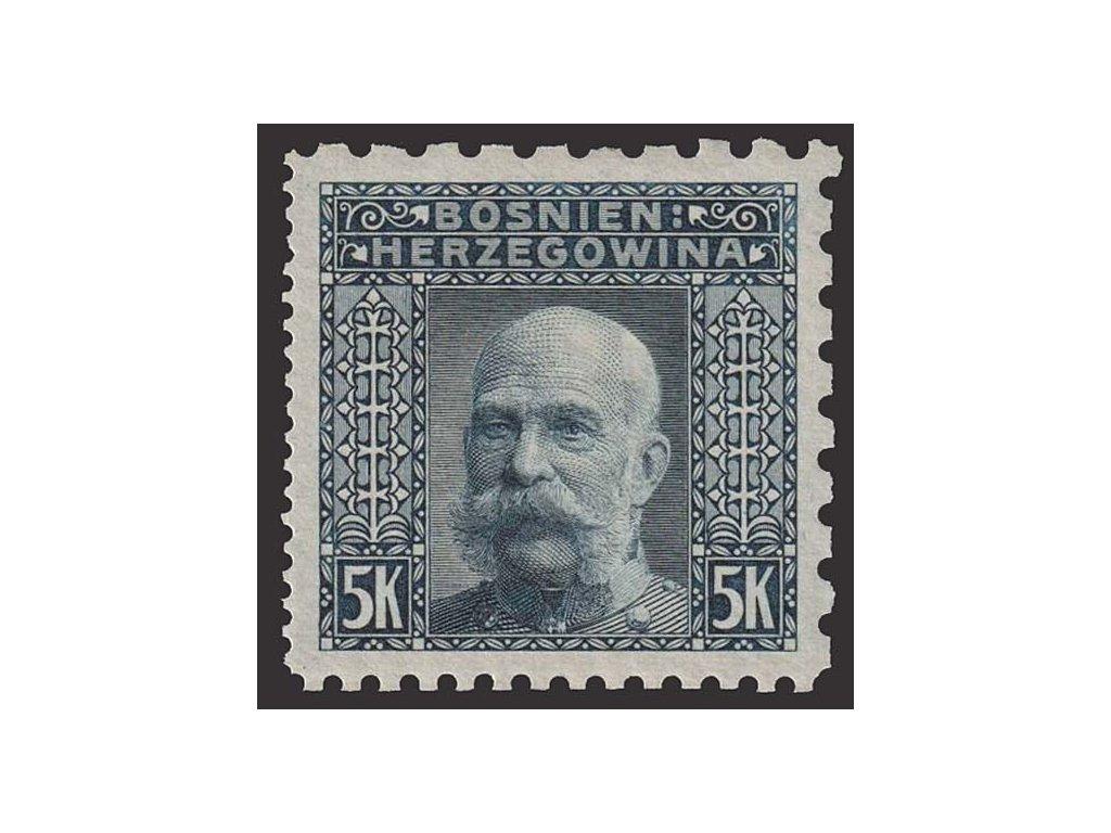 1906, 5 Kr Franc Josef, L 6 1/2:6 1/2:9 1/4:12 1/2, * po nálepce
