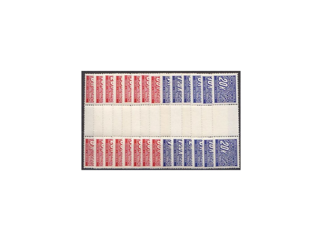 1939, 5h-20K série, trhané meziarší, Nr.DL1-14, **