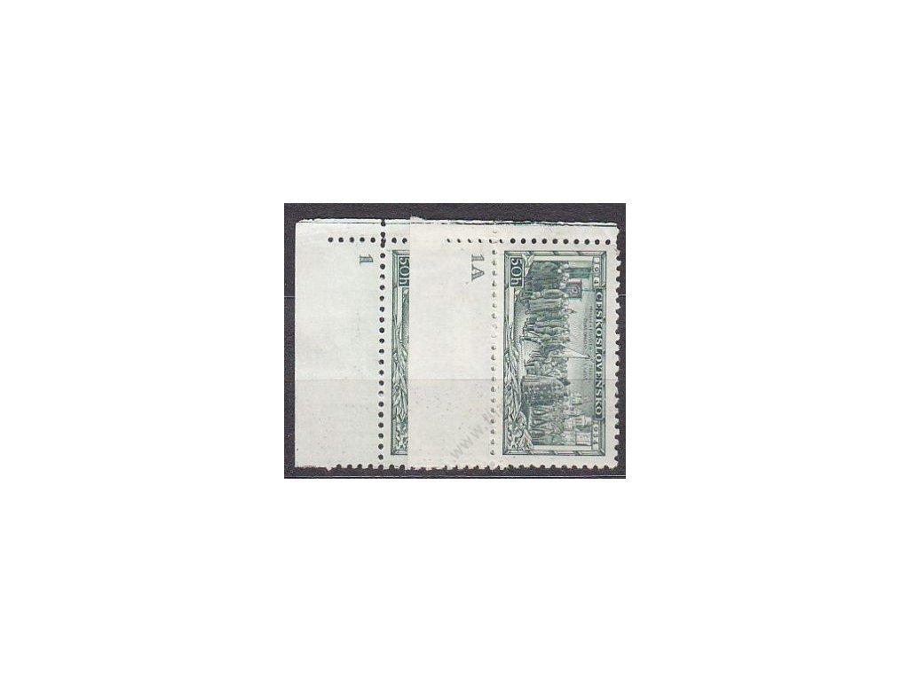 1934, 50h Vojenské, 2 roh. kusy s DČ 1,1A, Nr.276