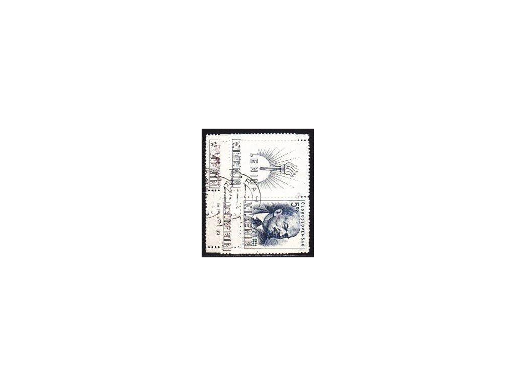 1949, 1.50-5Kčs Lenin, L+P kupon, Nr.498-9, raz.