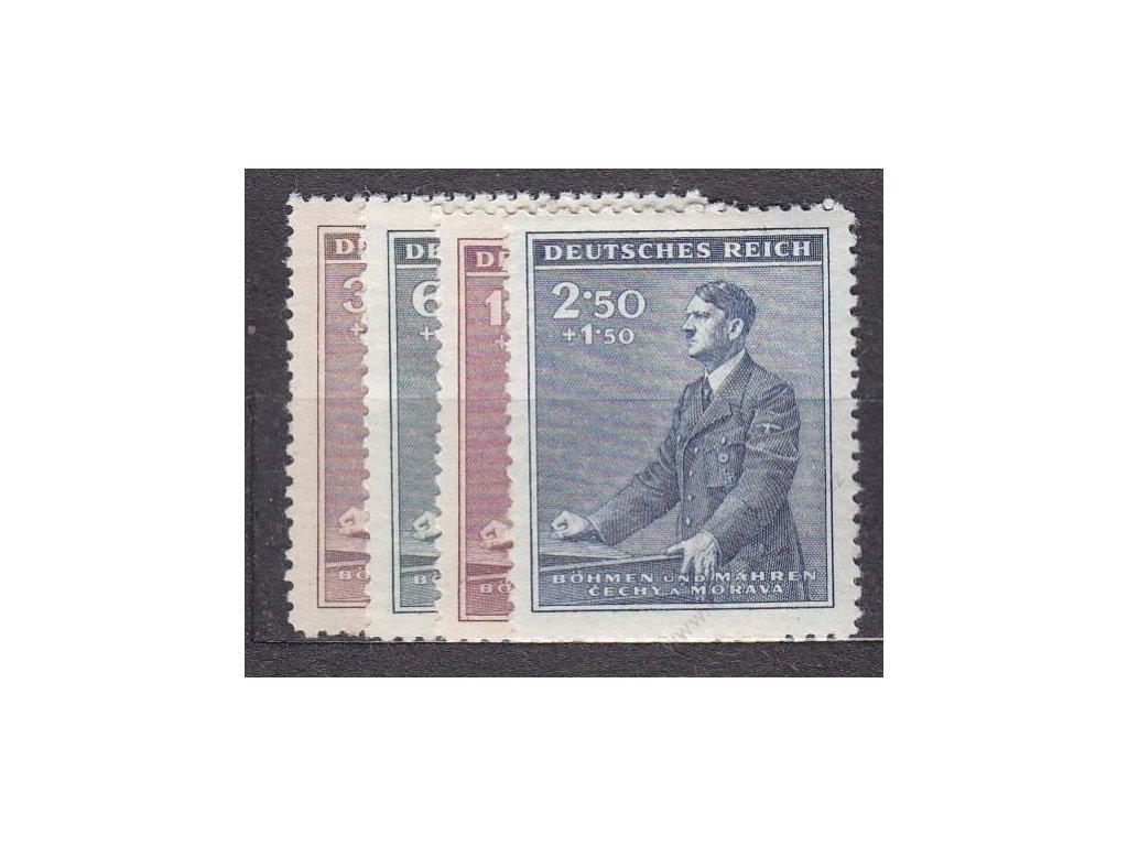 1942, 30h-2.50K Hitler, série, Nr.74-7, **