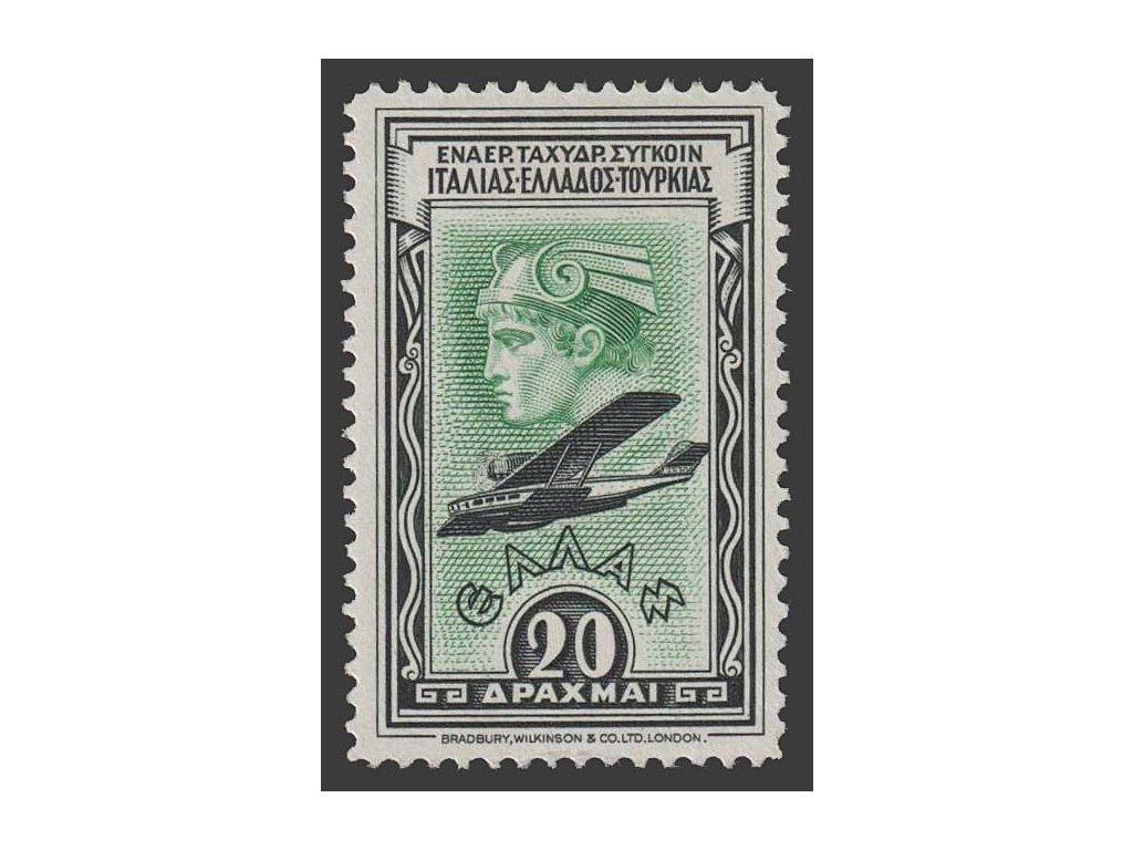 1933, 20 Dr letecká, MiNr.360, * po nálepce