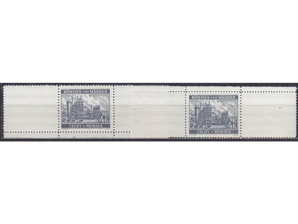 1939, 4K Ostrava, VK-8 horní a dolní okraj, Nr.37, **