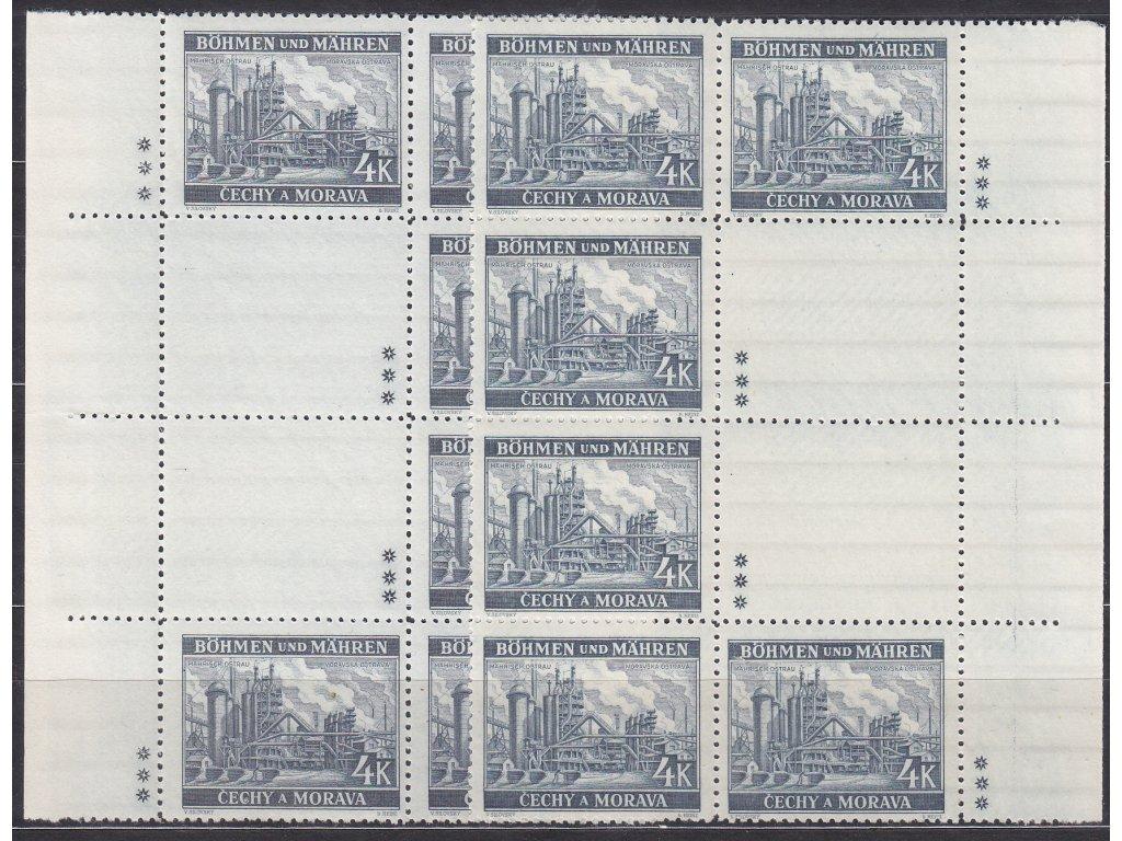 1939, 4K Ostrava, podkovy, L+P, varianta 3 křížky, Nr.37, **