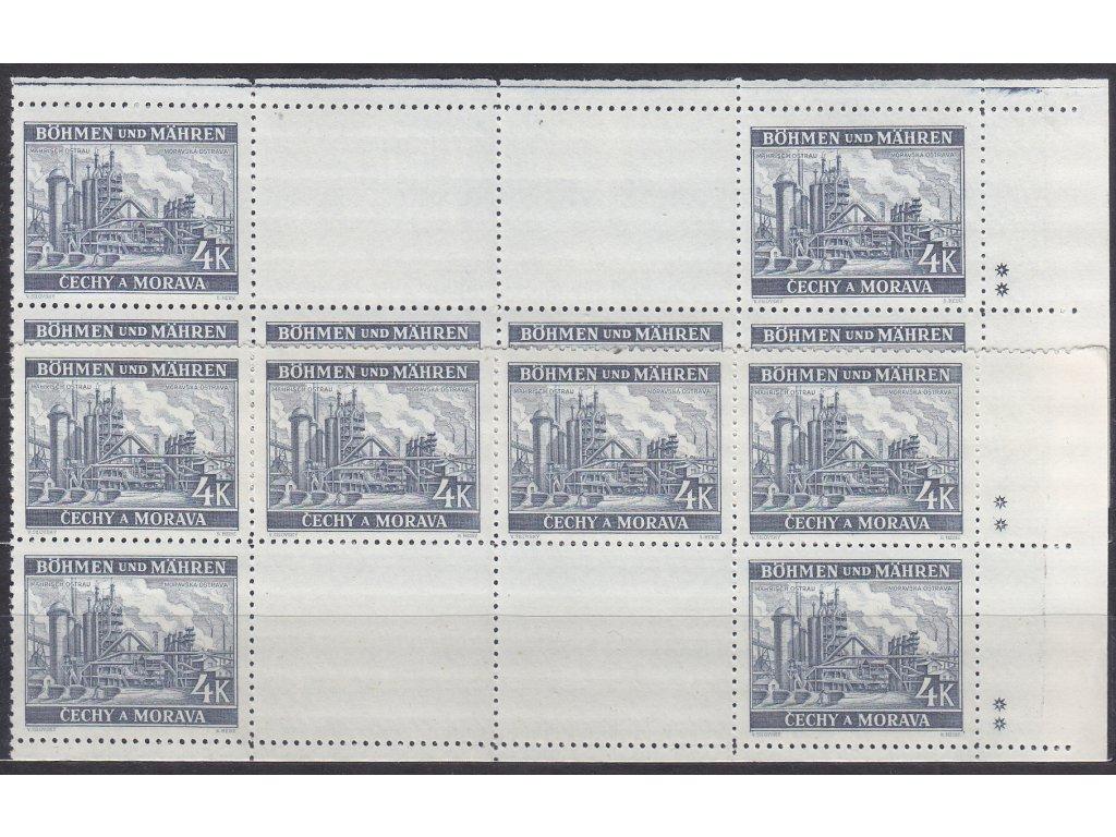 1939, 4K Ostrava, vodorovné podkovy, H+D, pravý okraj, varianta 2 křížky, Nr.37, **