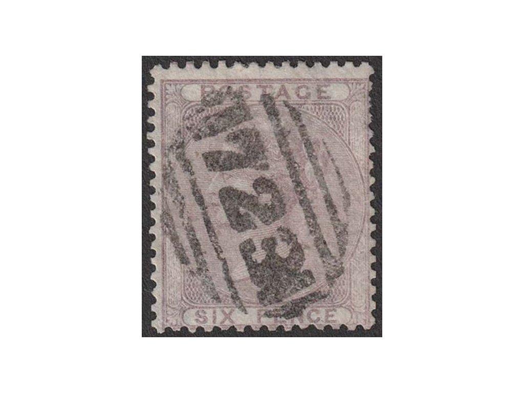 1856, 6 P Viktoria, MiNr.14, razítkované, krátké zoubky