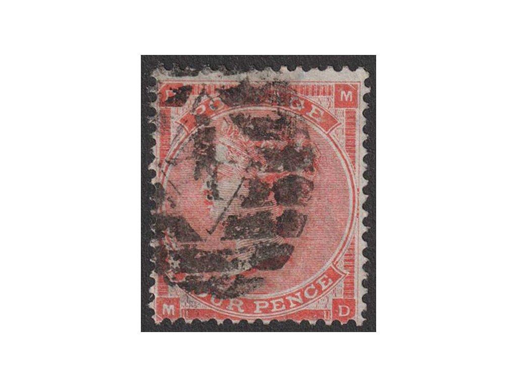 1862, 4 P Viktoria, MiNr.19, razítkované