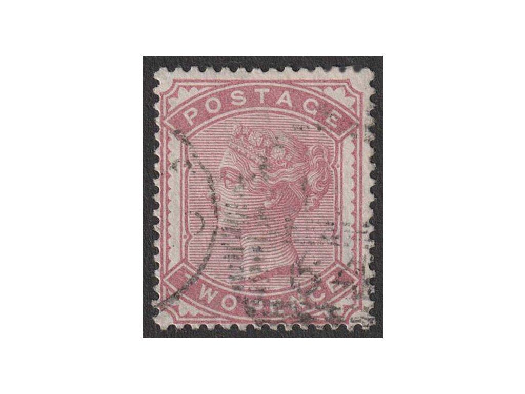 1880, 2 P Viktoria, MiNr.58, razítkované