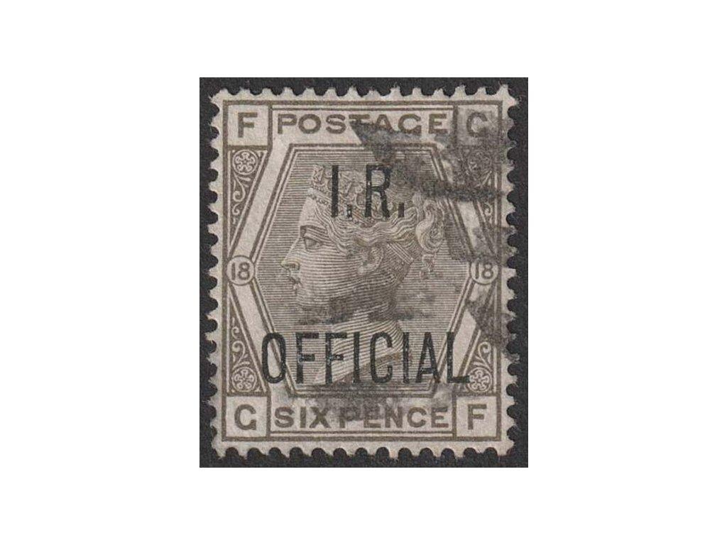 1882, 6 P Viktoria, I. R. OFFICIAL, MiNr.41, razítkované