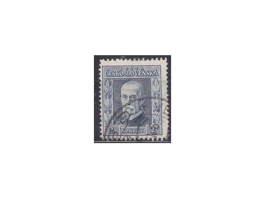 2Kč modrá, I.typ, svislá pr.4, zk.Gilbert, Nr.191, razítkované