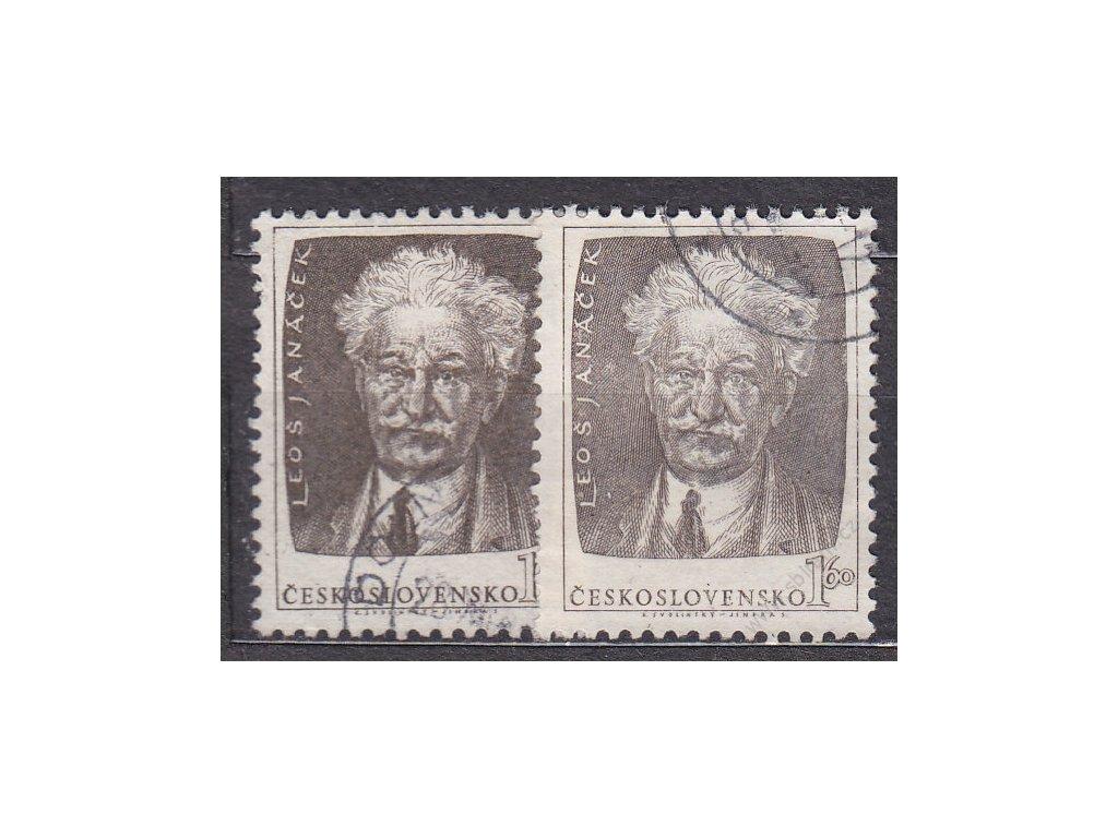1.60Kčs Janáček, hnědá a šedohnědá, Nr.739a,b, razítkované, ilustrační foto