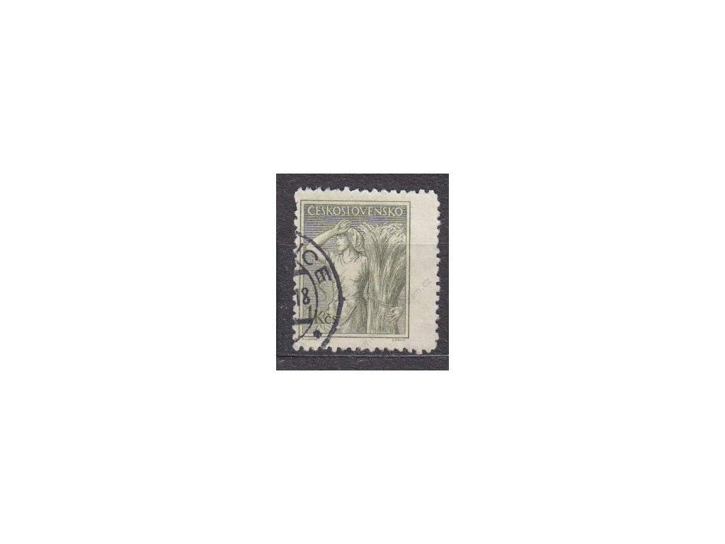 1954, 1Kčs Povolání, posunutá perf. vpravo