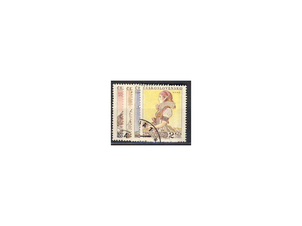 1955, 60h-2Kčs série Kroje, Nr.840-3, razítkované