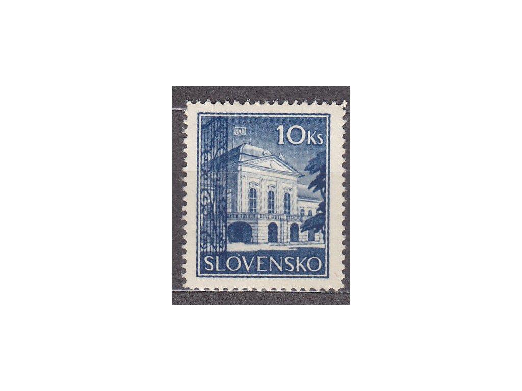 1940, 10Ks Prezidenský palác, rastr., Nr.46y, **, ilustrační foto