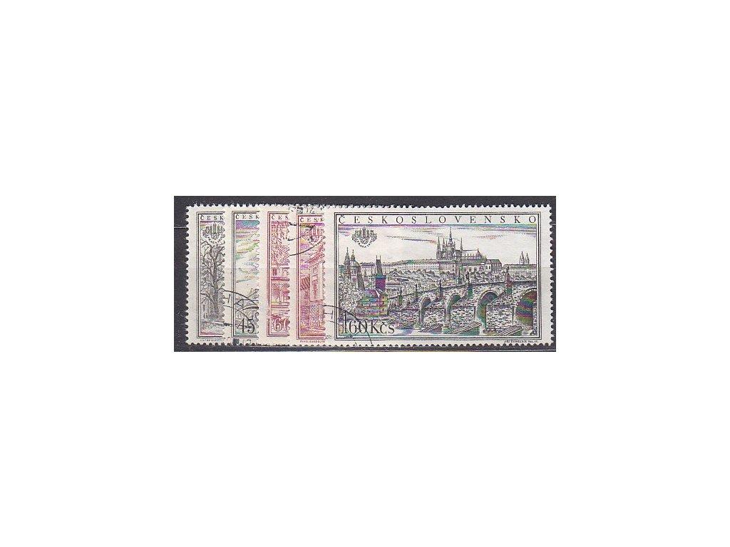 1955, 30h-1.60Kčs PRAGA, série, zoubkované, Nr.853-7A, razítkované, ilustrační foto