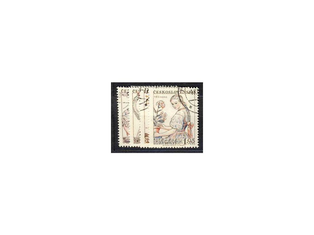 1957, 45h-1.95Kčs série Kroje, Nr.968-71, razítko