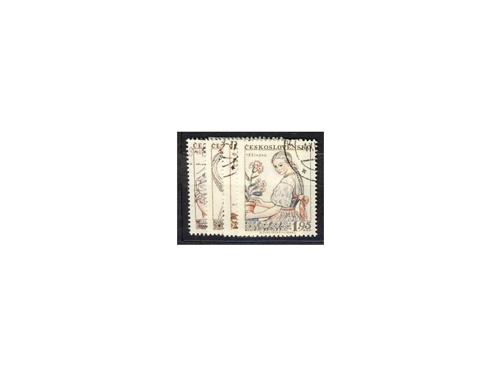 1957, 45h-1.95Kčs série Kroje, Nr.968-71, razítkované, ilustrační foto