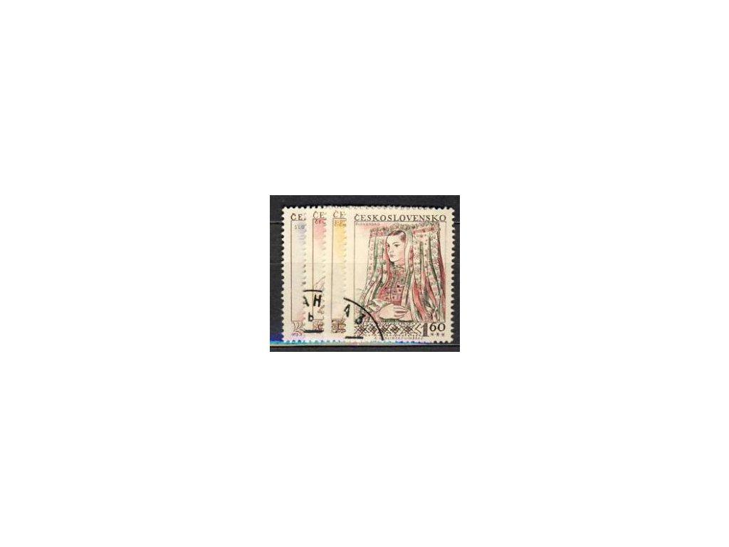 1957, 30h-1.60Kčs série Kroje, Nr.913-16, razítko