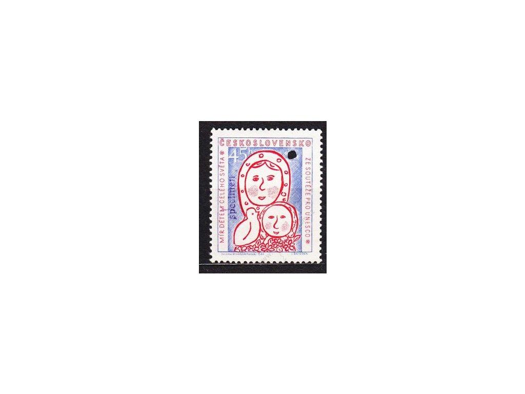 1958, 45h UNESCO, VZOR, Nr.1024, * po nálepce