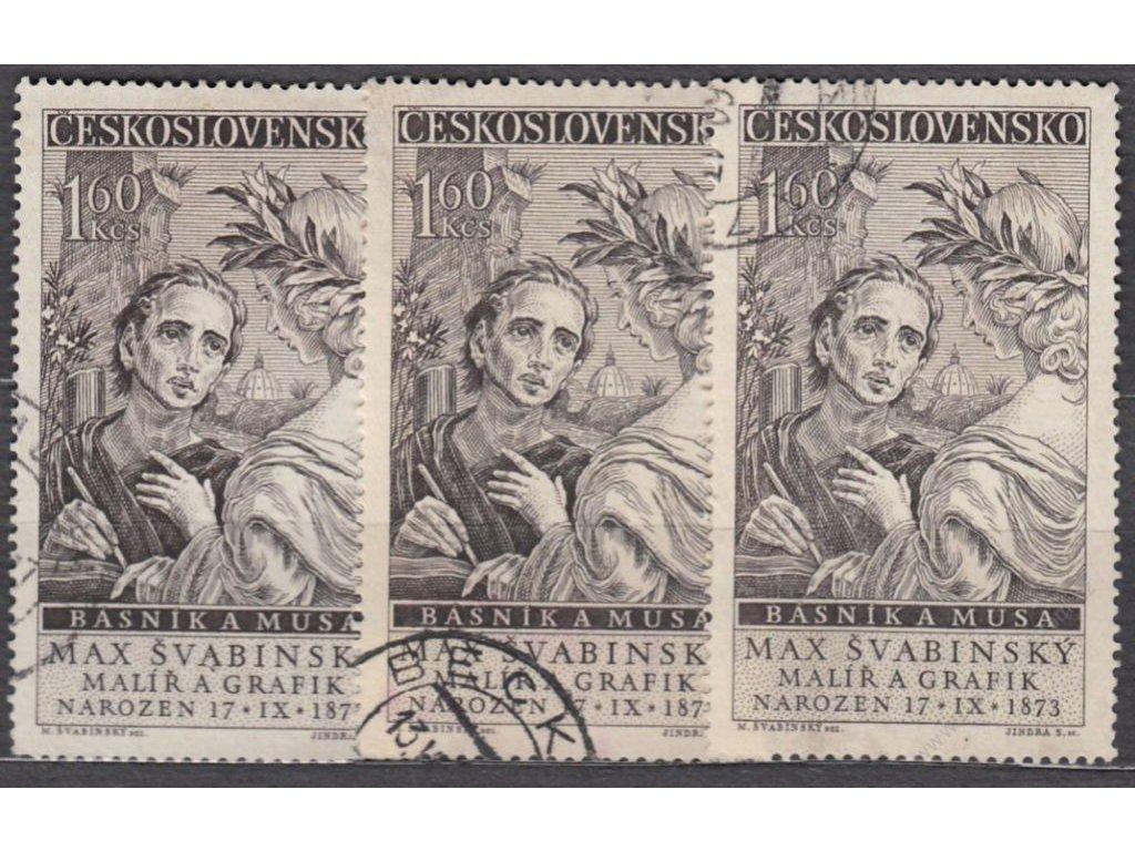 1.60Kčs Švabinský, typ I,II,III, Nr.1013, denní ra
