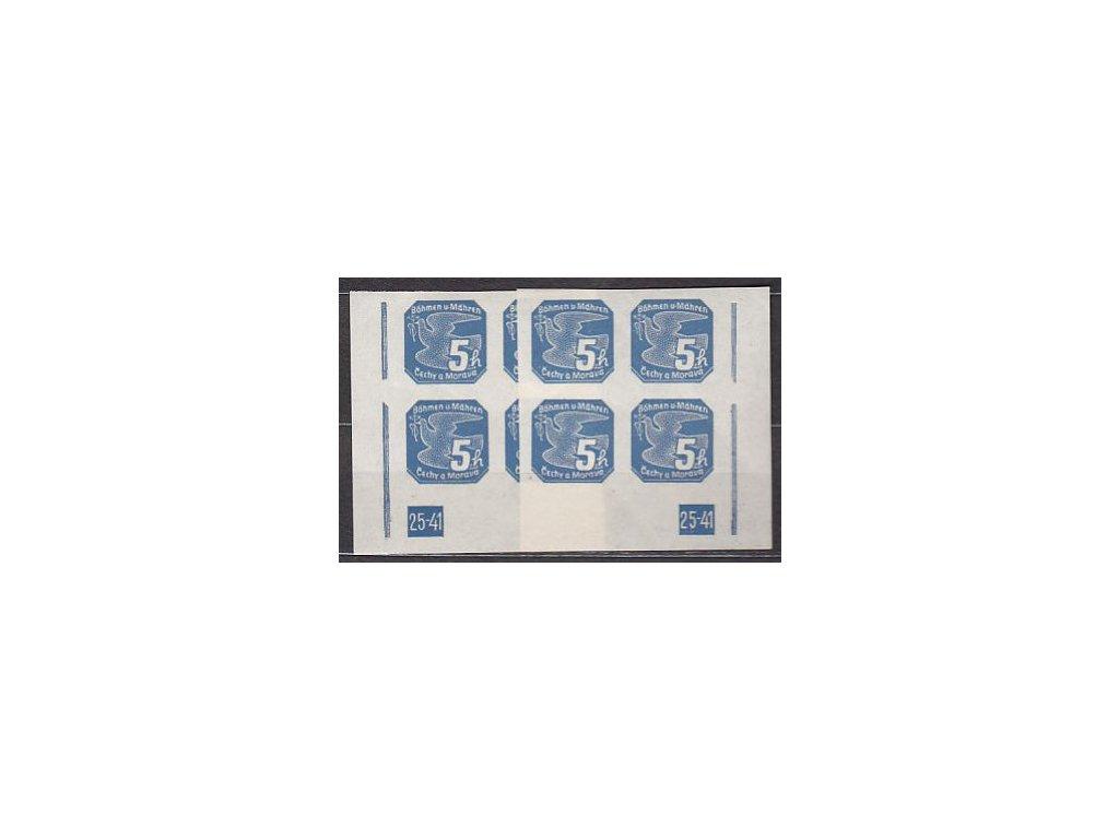 1939, 5h modrá, 2 roh. 4bloky s DČ 25-41 L+P, Nr.NV2, **